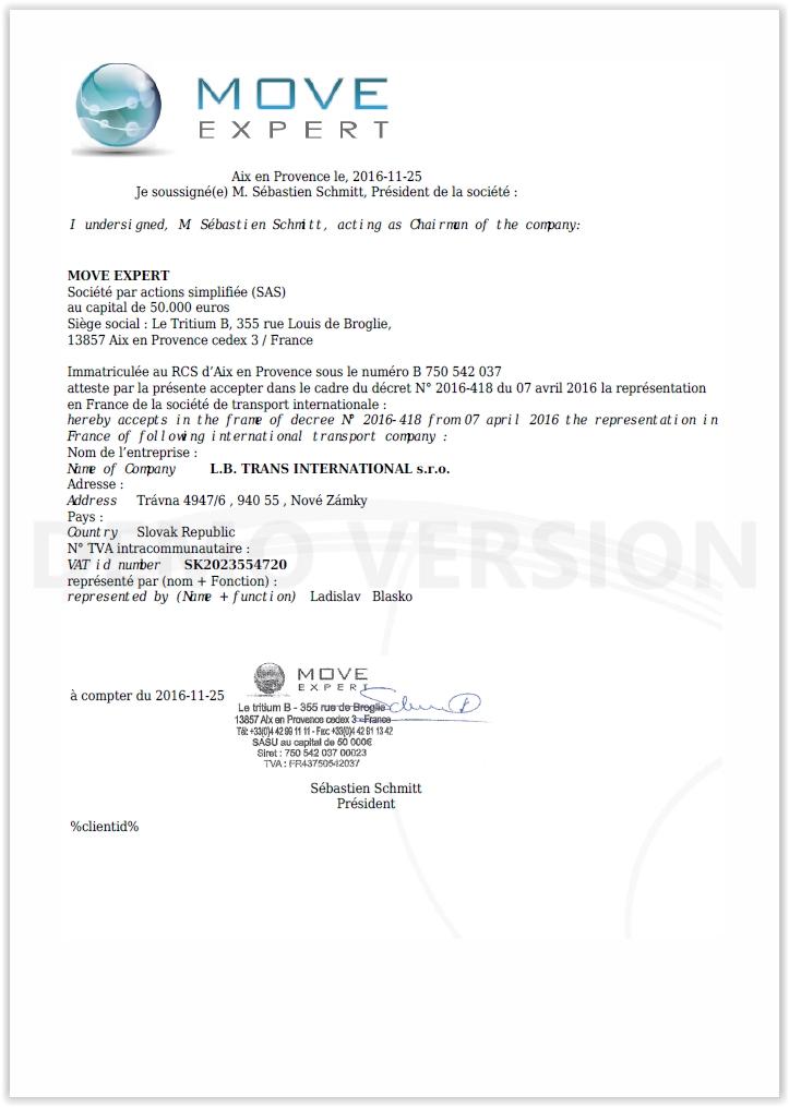 Certifikat FRA